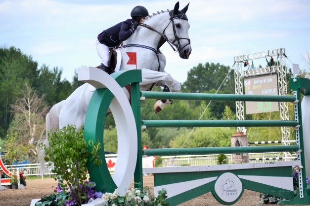 Denise Wilson during her winning ride at the International Bromont CCI*** Grand Prix