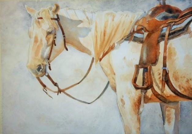"Greg Marquez http://www.artquez.com/  Sun-up watercolor on paper  11 x 15""   $950.00/ framed"