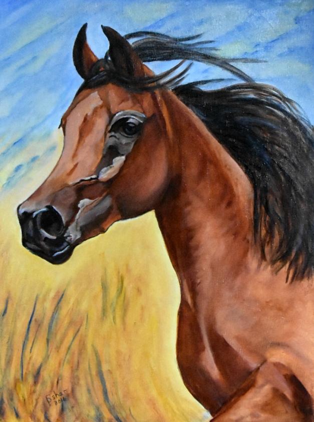Portrait of Kharumba by Pauline Oshar from Shefford